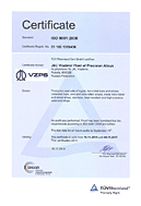 Vladimir plant of precision alloys successfully passed regular ISO 9001 certification